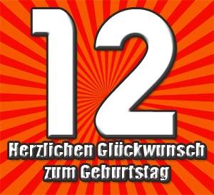 12. Geburtstag Glückwünsche