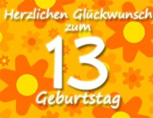 13 Geburtstag Glückwünsche