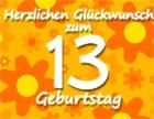 13. Geburtstag Sprüche
