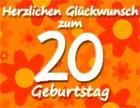 20. Geburtstag Sprüche