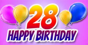 28. Geburtstag Glückwünsche