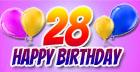 Sprüche zum 28. Geburtstag