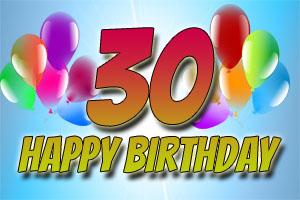 Bilder zum 30. Geburtstag