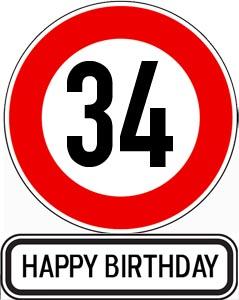 34. Geburtstag Glückwünsche