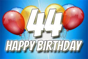 Bilder zum 44. Geburtstag