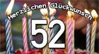 52. Geburtstag Glückwünsche