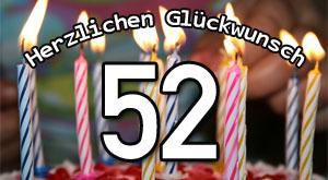 52. Geburtstag Sprüche