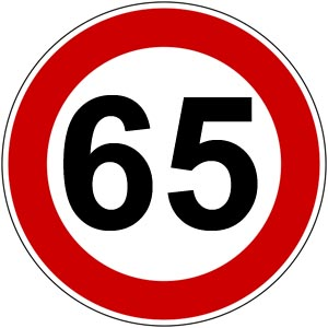 Glückwünsche zum 65. Geburtstag