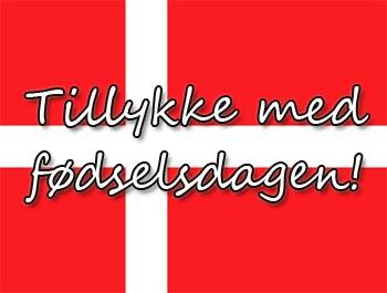 Dänische Geburtstagsgrüße