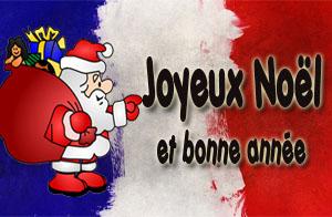 Französische Weihnachtsgrüße