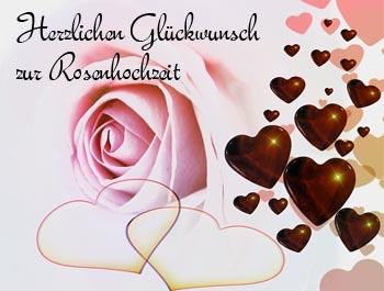 rosenhochzeit gl ckw nsche. Black Bedroom Furniture Sets. Home Design Ideas
