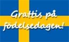 Schwedische Geburtstagswünsche