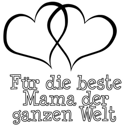 Malvorlage Beste Mama der Welt