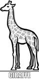 Malcvorlage Giraffe