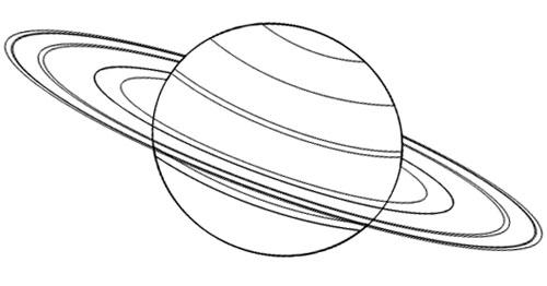 Saturn Malvorlage
