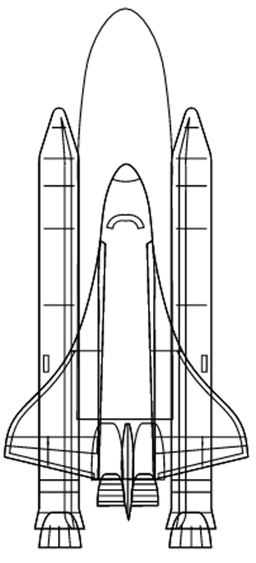 Space Shuttle Malvorlage