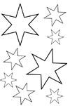Sterne Malvorlagen