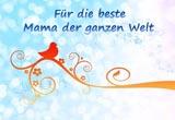 Muttertagskarte für die beste Mama der Welt