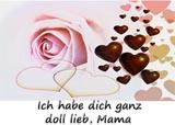 Mama ich hab dich Lieb Karte zum Muttertag