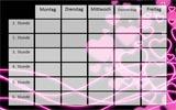 Stundenplan mit Neon Herzen