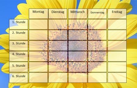 Stundenplan Sonnenblume