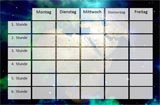 Weltraum Stundenplan zum Ausdrucken