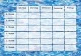 Stundeplanvorlage Wasser zum Ausdrucken